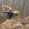 An excavator and dump truck were in use this week for site preparation work at 164 Mt Pleasant Road to make the land ready for the construction of Maplewood Medical Center, a planned two-level medical office building. (Gorosko photo)