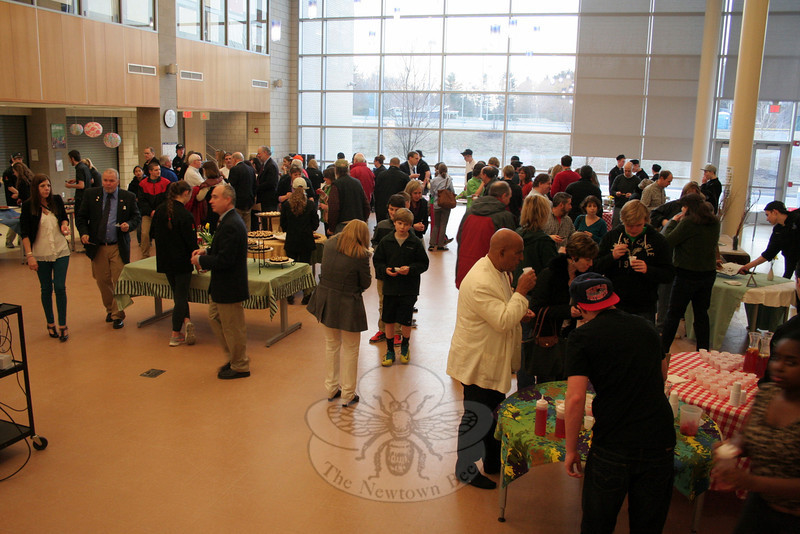 For nearly two hours, guests sampled amuse-bouches prepared by NHS Culinary Department students. Unlike true amuse-bouches, however, the student creations also included entrée, dessert, and even beverage samplings. (Hicks photo)