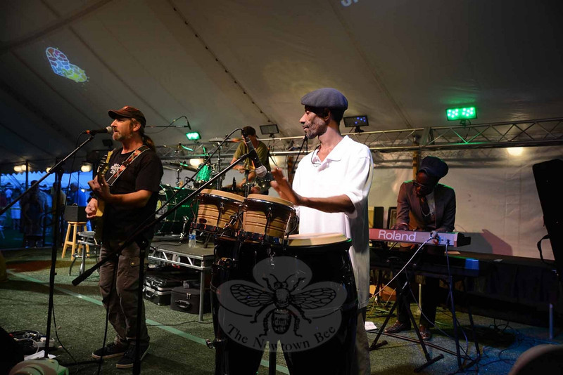 Musicians continued their diverse sounds throughout the evening at The Great Newtown Reunion event held on Saturday, July 27. (Bobowick photo)