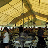 The sprawling main tent provided sheltered seating for the approximately 1,000 people who attended the Great Newtown Reunion.  (Gorosko photo)