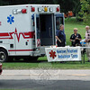 A group from Newtown Volunteer Ambulance Corps was positioned near the entry gate to The Great Newtown Reunion event held on Saturday, July 27. (Gorosko photo)