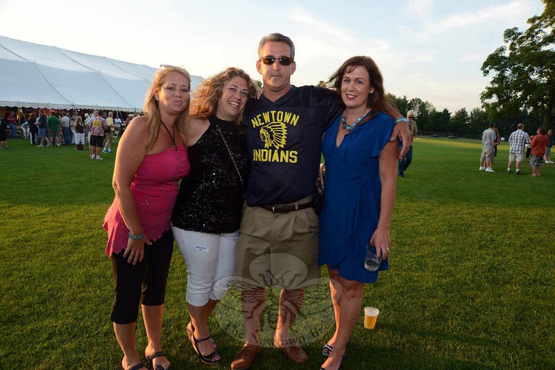 Reunited this weekend were friends, from left, Kristen Trull, Heather and Bob Satmary, and Cathy Sauli at The Great Newtown Reunion event held on Saturday, July 27. (Bobowick photo)