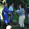 Shakesperience Productions, Inc of Waterbury staged a performance of Shakespeare's play Much Ado About Nothing during the late afternoon and early evening on Saturday, August 24, at McLaughlin Vineyards in Sandy Hook. Vineyard visitors in lawn chairs watched the performance, which was held on a broad lawn near the vineyard tasting room.  (Gorosko photo)