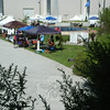 In an area known as Piazza D'Amico located behind NYA Sports & Fitness at Fairfield Hills, a group of vendors did business under a cluster of fabric shelters that protected them from the glaring sun during the August 24 Newtown Yoga Festival. Sandy Hook Promise and Move Into Healing sponsored the festival.  (Gorosko photo)