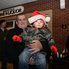 Doug Ruffles and his grandson Dylan Ruffles bundle up for Dylan's second time to the Hawleyville tree lighting. (Bobowick photo)