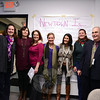 Gathered in a meeting room off the main lobby at the Newtown Youth Academy, a group of Kids Share Workshops and Publishing Inc (KSWP) volunteers, parents, and students reunite to celebrate the project they had done in April following 12/14. From left are KSWP board member Patty Short, illustrator Katherine Potter, creative director Jennifer Canning, KSWP founder Kristina Applegate, curriculum director Lauren Lee, volunteer Beth Hegarty, and board President John Lee. (Bobowick photo)