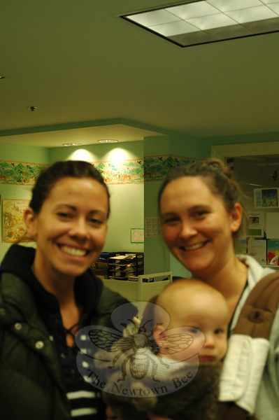 The Newtown Bee: What us the nicest thing a stranger has done for you? Kelly Mozelak, left, Kristen Alesevich, and Owen Alesevich, right: At Bagel Delight a stranger bought two dinosaur-shaped cookies for our boys. (Silber photo)