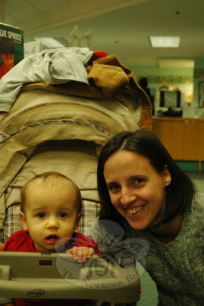 The Newtown Bee: What us the nicest thing a stranger has done for you? Elizabeth Killion and Jacob Rushian: Someone holding the door open when I'm pushing the stroller. (Silber photo)
