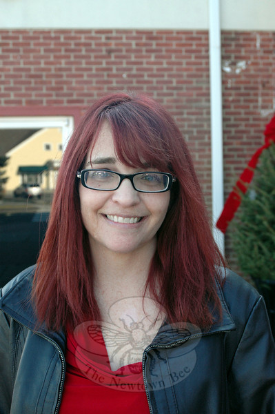 The Newtown Bee: What tangible item puts you in the holiday spirit? Stacey Connors: Christmas trees. (Silber photo)