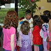 Prince Charming (Tim Santillo) of Invite A Princess greeted children at the Royal Party hosted by The Resiliency Center of Newtown on Monday, December 23.(Crevier photo)