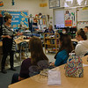Dr Della Schmid gave a presentation during Newtown Middle School's Career Day, held on Friday, November 22, about the practice of chiropractics. (Hallabeck photo)