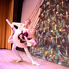 Jenna Siroky and Jeremy Doran rehearse before the show during the 28th Annual Holiday Festival. (Bobowick photo)