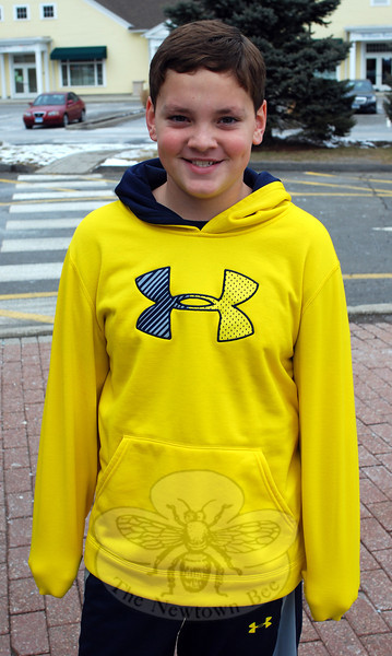 The Newtown Bee: What person knows you better than anyone else? Jack Stenz: That would be [my mom]. (Spanedda photo)