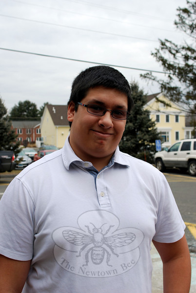 The Newtown Bee: What person knows you better than anyone else? Mike Alicea: My friend Hannah from Indiana. (Spanedda photo)