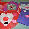 Valentines crafted by members of the Newtown Senior Center, Monday, February 10, will be given to sweethearts at the adjacent Children's Adventure Center and Masonicare at Newtown. (Crevier photo)