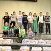 Sandy Hook School students pose together during a collection for Valentines For Troops. From left, top row, are Matthew Holden, second grade; Saahil Ray, third grade; John O'Sullivan, fourth grade; Daniel Sibley, fourth grade, Victoria Chop, fourth grade; Christina Vitti, fourth grade; William Burns, third grade; Kyle Tabor, third grade; bottom row, Shannon Hegarty, third grade; Brandon Wong, third grade; Jackie Hegarty, third grade; Meghan Hegarty, third grade; and Nichole Tabor, kindergarten. (Bobowick photo)