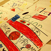 Students in the REACH program created their own flags Monday, February 10. (Hallabeck photo)