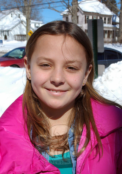 The Newtown Bee: What is your favorite Disney movie? Grace Cerneck: Tangled. (Hallabeck photo)