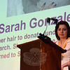 Sarah Gonzalez was honored as a medalist at the awards event. Ms Gonzalez cut her hair to raise funds for cancer research. She donated the $2,000 that she raised to the St Baldrick's Foundation, a group that pursues childhood cancer research. (Gorosko photo)
