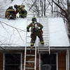 Multiple volunteer fire companies responded to the fire call at Thunder Ridge Road in Sandy Hook on January 2. (Gorosko photo)