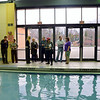A group of Newtown officials toured the Ridgefield Recreation Center January 6. Newtown Commission on Aging Chairman Curt Symes, Ridgefield Assistant Director of Recreation Robin Matthews, Newtown Parks and Recreation Director Amy Mangold, First Selectman Pat Llodra, Ridgefield Parks and Rec Director Paul Roche, Commission on Aging member Sheila Torres, Newtown Parks and Recreation Commission Chair Ed Marks and Newtown Assistant Director of Recreation RoseAnn Reggiano, visited the Ridgefield Recreation Center. (Voket photo)