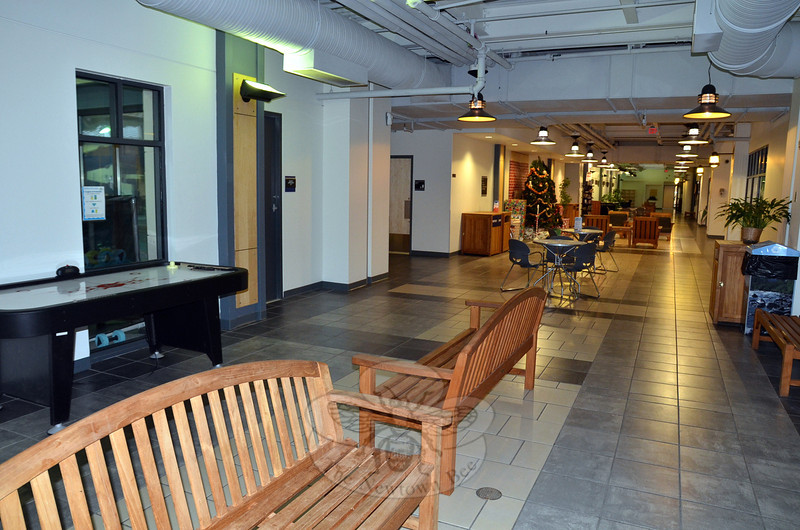 Newtown officials are looking at a number of municipal recreation facilities to get ideas and develop best practices for a planned Newtown center that will be built in the coming years. Newtown officials who recently visited the Ridgefield Recreation Center liked the wide open hallways and seating installations that serve both impromptu gatherings and community groups holding scheduled meetings.  (Voket photo)