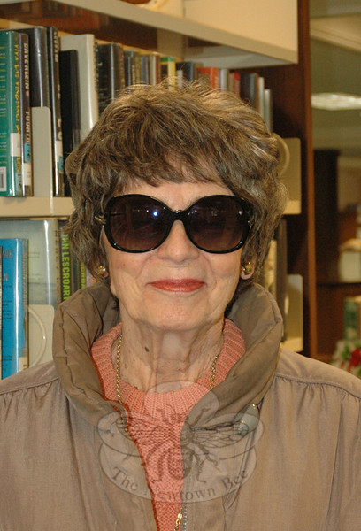 The Newtown Bee: How many books do you think you will read in 2014? Ellen Parrella: No more than 50. One a week. (Silber photo)