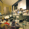 "The Percussion Ensemble performed on Friday, December 20, during Newtown High School's ""Winter Concert Showcase."" (Hallabeck photo)"