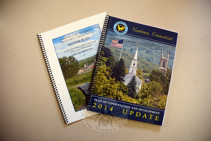 Printed bound copies of the 2014 Town Plan of Conservation and Development and the 2013 Fairfield Hills Master Plan are now available at the Land Use Agency office at Newtown Municipal Center at 3 Primrose Street. Both documents also are available for review on the town's website. (Gorosko photo)