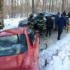 Police report a two-vehicle collision on a narrow, unpaved section of Hoseye Coach Road, a road that links Marlin Road to the intersection of Old Mill Road, Still Hill Road, and Sherman Street, at about 3:17 pm on January 23. Police said that two motorists were approaching one another on a narrow section of the road when the accident occurred. The collision involved motorist Victoria Rose Theobald, 19, of Southbury, who was driving a 1997 Honda Civic coupe, and motorist Christopher Stites, 38, of Trumbull, who was driving a 2014 Jeep Grand Cherokee SUV, police said. Ambulance volunteers transported Theobald to the hospital for treatment of minor injuries, according to police. The collision is under investigation, police said. (Gorosko photo)