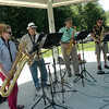 Sax Fifth Avenue performed live music at the FUN event. (Hallabeck photo)