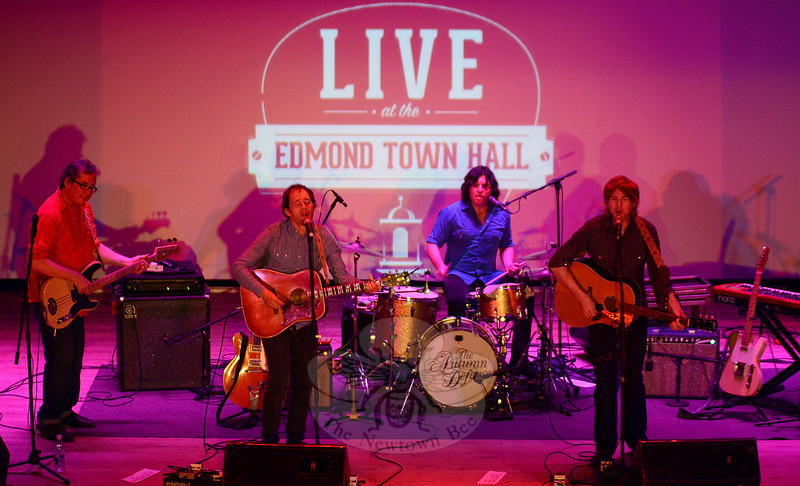 """The Autumn Defense — from left, James Haggerty, John Stirratt, Greg Wieczorek and Pat Sansone — entertained an intimate but enthusiastic audience at Edmond Town Hall on June 6. The foursome showcased a selection of material spanning their five-album history, and even snuck in a surprise Fleetwood Mac/Bob Welch cover of """"Sentimental Lady"""" to close the show. (Voket photo)"""