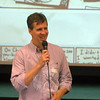 Jeff Kinney, author and illustrator of his Diary of a Wimpy Kid series, spoke before Newtown Middle School students on Friday, June 6.