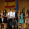 Some of the students inducted into the Sociedad Honoraria Hispánica during ceremonies at NHS on Wednesday, May 21, read phrases during their induction. (Hallabeck photo)