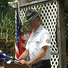 VFW Post 308 Men's Auxiliary President Robert Arnold spoke at the flag retirement ceremony Saturday, June 14. (Gaston photo)