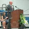 NMS Principal Thomas Einhorn addressed the crowd at the 2014 NMS Moving-Up Ceremony. (Hallabeck photo)