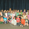 Retiring Hawley Elementary School Principal Jo-Ann Peters-Edmondson, back row surrounded by students, met with the Hawley Kids Care Club on Monday, June 9. Also photo-graphed are Kids Care Club co-advisor and Hawley parent Lisa Burbank, second row second from right, and parents Amanda Roggenbauer, second row right, and Maria Dala, standing right.  (Hallabeck photo)