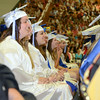 "Smiles are plentiful as these Newtown High School students wait to receive their diplomas Tuesday, June 17. (Bobowick photo)<br /> <br /> Additional photos from NHS graduation are also available in a separate gallery:<br /> <a href=""http://photos.newtownbee.com/Special-Events/NHS-Class-of-2014-Graduation/"">http://photos.newtownbee.com/Special-Events/NHS-Class-of-2014-Graduation/</a>"