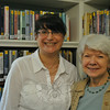 Newly appointed director of the C.H. Booth Library, Brenda McKinley, left, and Beryl Harrison, who has served since the fall of 2013 as acting director, are excited about the future of the C.H. Booth Library as it moves forward under Ms McKinley's leadership. (Crevier photo)