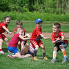 It is a fight to the finish for members of Mrs Albano's kindergarten class, engrossed in a tug-o-war. (Crevier photo)