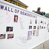 Pictures of loved ones lost to cancer, and messages of remembrance are handwritten on the Wall of Remembrance displayed at the Relay this year. (Bobowick photo)