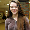 Newtown High School senior Kristen Liniger said this week that she has been practicing at home and in class when she can for the upcoming ninth annual Poetry Out Loud Connecticut State Finals. Kristen was named the NHS Poetry Out Loud champion on Wednesday, February 26, following mul-tiple rounds of Poetry Out Loud competitions. (Hallabeck photo)