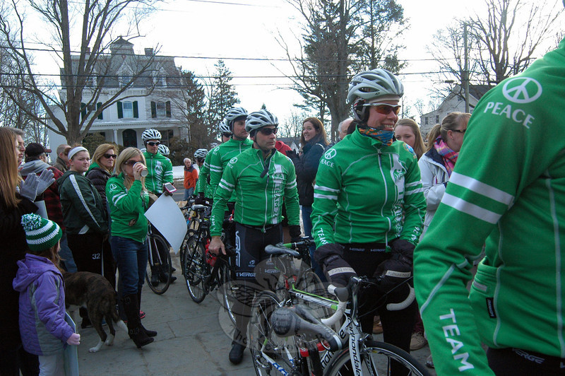 Team 26 members arrive at Edmond Town Hall on Saturday, March 8. (Hallabeck photo)