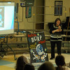 Sandy Hook School library/media specialist Yvonne Cech shared this year's One School One Read book is How Do You Burp in Space? And Other Tips Every Space Tourist Needs to Know by Susan E. Goodman on Friday, March 14. (Hallabeck photo)