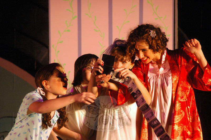 Newtown Middle School students performed during a dress rehearsal on Wednesday, March 12, for the school's production of Grease: School Version, which ran from March 14 to 16. (Hallabeck photo)