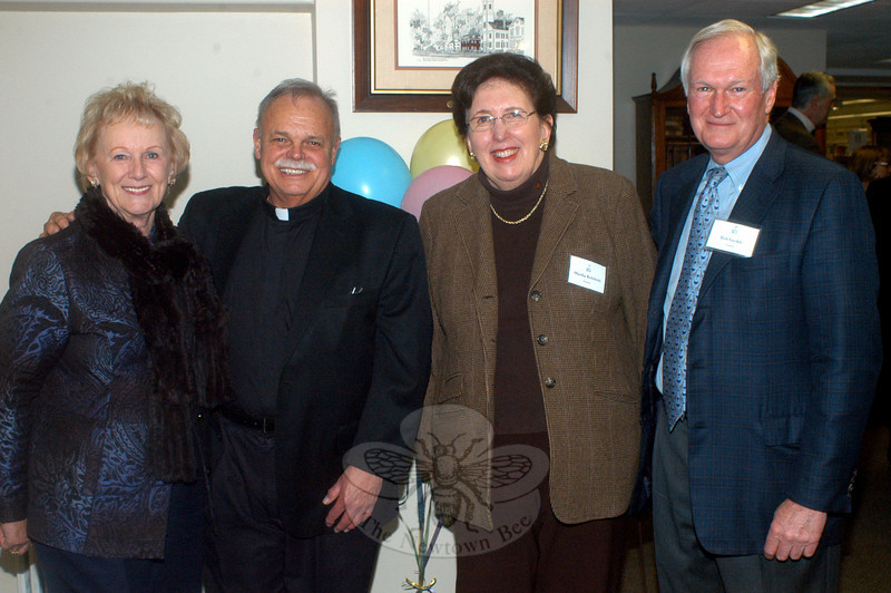 The weekend of March 21 and 22 provided the C.H. Booth Library an opportunity to shine again after extensive repairs and renovations were completed following a January 4 flood. An invitation-only reception was hosted Friday, March 21, for private donors, staff, and supporters. Among those attending were First Selectman Pat Llodra, Monsignor Robert Weiss, library board President Martha Robilotti, and board member and event organizer Bob Geckle. (Hutchison photo)