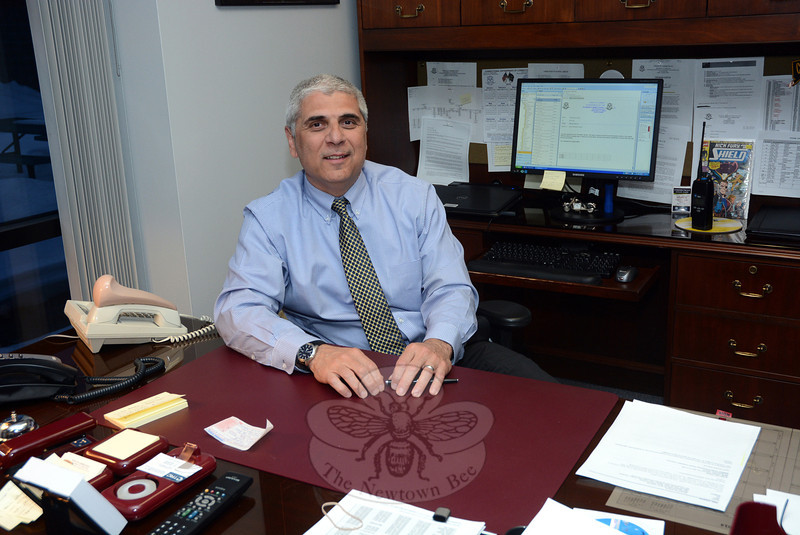 Henry Falcone has become the warden of Garner Correctional Institution, the state's high-security prison at 50 Nunnawauk Road which housed 530 male inmates on March 4. Warden Falcone is shown in his office at the 245,000-square-foot facility. (Gorosko photo)