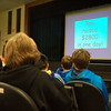 Newtown Middle School seventh grade students learned on Thursday, February 20, how their efforts as sixth graders led to a well being built at a Liberian school. (Hallabeck photo)