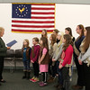 "First Selectman Pat Llodra welcomed a group of Newtown Girl Scouts to Newtown Municipal Center on March 3, where she read her annual proclamation for Girl Scout Week. The 11 girls, who were joined by mothers and a few siblings for their visit to 3 Primrose Street, met with the first selectman in the building's Council Chambers. Mrs Llodra took a few minutes to read this year's proclamation, which, among other points, highlights the fact that 2014 is the 102nd anniversary year of Girl Scouts of the United States of America; mentions that Girl Scouting has helped build millions of girls and women ""of courage, confidence, and character who act to make the world a better place""; and also pointed out that more than 59 million American women are Girl Scout alumnae, and 3.2 million girls and adults volunteers are active members. Mrs Llodra also took the time to say Hello to each of the Scouts before returning to other official duties Monday afternoon. (Hicks photo)"