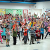 The Head O' Meadow Elementary School community gathered together on Wednesday, May 7, to participate in Project ACES (All Children Exercise Simultaneously), a program to raise awareness of the importance of exercise and good health. (Hallabeck photo)